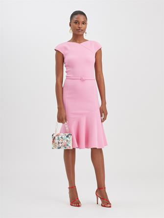 Stretch-Wool Crepe Dress