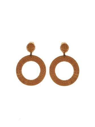 Tan Hoop Earrings