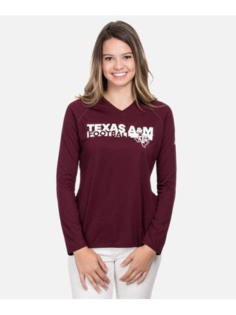 Adidas Texas A&M Sideline Grind Long Sleeve T-Shirt