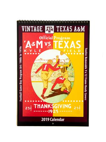 Texas A&M 2019 Vintage Football Calendar