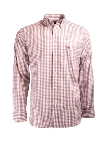 Antigua Texas A&M Rank Long Sleeve Button Down