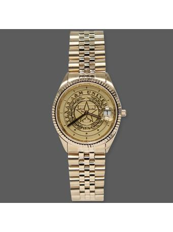 Belair Texas A&M Men's Gold Tone Watch