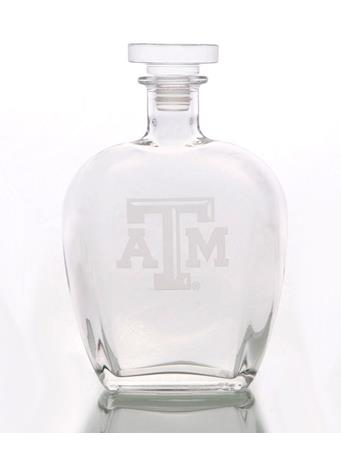 Texas A&M Aggie Etched Decanter