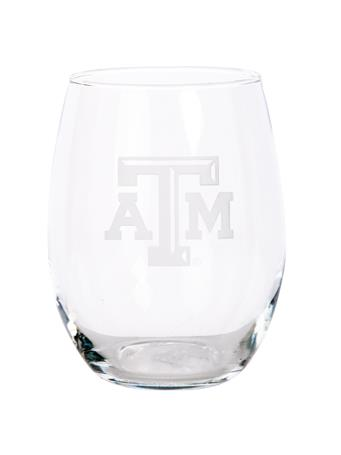 Texas A&M Campus Crystal 21oz Stemless Wine Glass