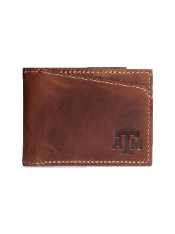 Texas A&M Canyon Sawtooth Leather Wallet