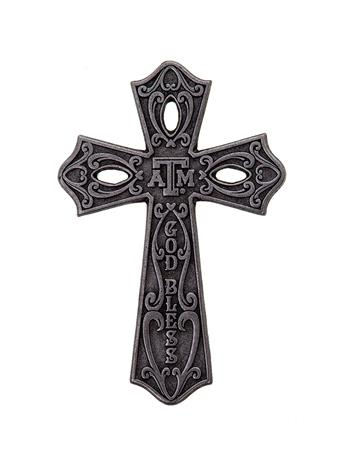 Texas A&M Aggie Large Metal Cross