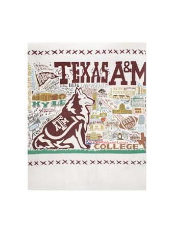 CatStudio Texas A&M Embroidered Dish Towel
