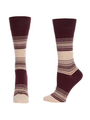 Maroon Striped Lightweight Cotton Socks