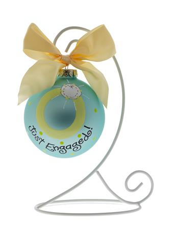 Coton Colors Just Engaged Ornament