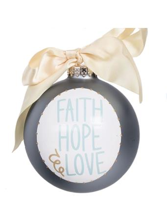 Coton Colors Faith Hope Love Ornament