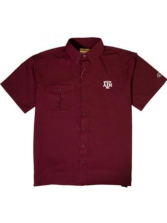 Texas A&M Drake Flyweight Short Sleeve Button Down