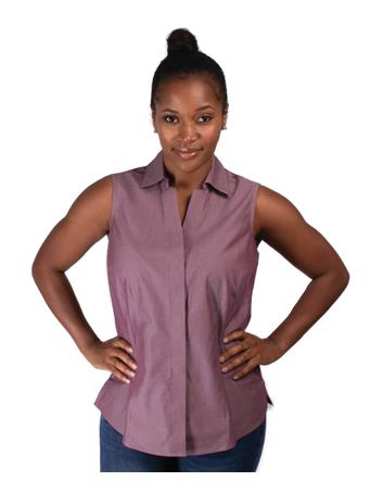 Foxcroft Taylor Solid Sleeveless Top