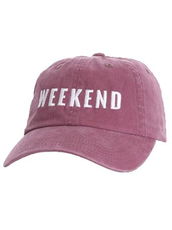 Maroon Faded Weekend Friday + Saturday Hat