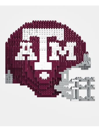 Texas A&M Football Helmet 3D Lego Set
