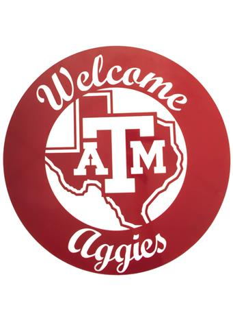 Texas A&M Welcome Aggies 24 Inch Sign