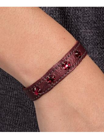 Maroon Stacker Cuff with Rhinestones