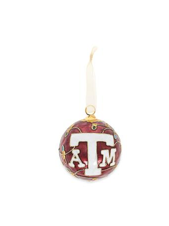 Texas A&M Kitty Keller Lights All Over Ornament
