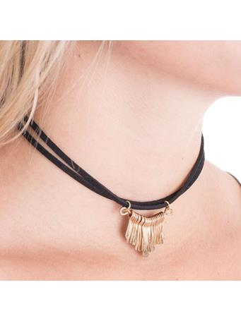 All The Fringe Suede Necklace