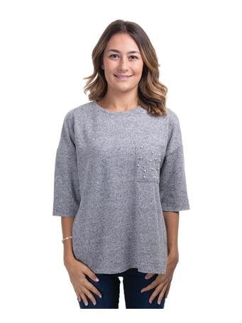 Dex Soft Grey Quarter Sleeve Sweater
