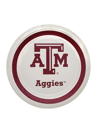 Texas A&M Aggie 9 Inch Plates