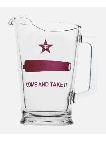Texas A&M Come And Take It Glass Pitcher