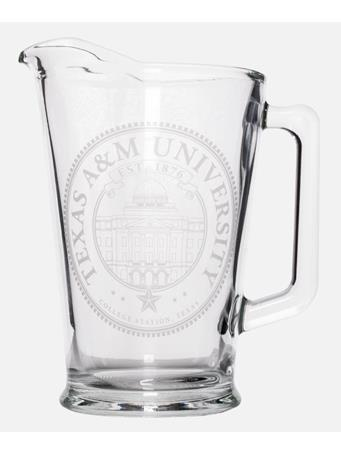Texas A&M Etched Academic Seal Pitcher