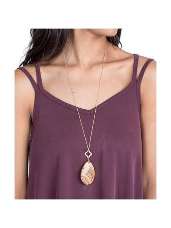 Clover Teardrop Necklace