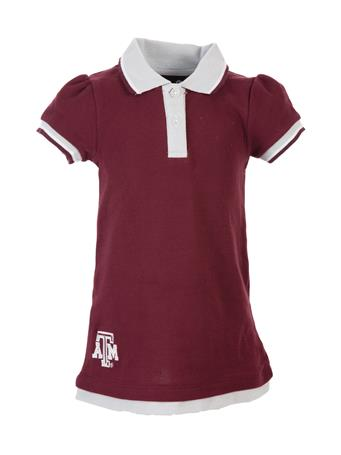 Texas A&M Lil' Cheer Coach Ruffle Dress