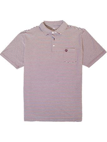Texas A&M Peter Millar Stripe Polo