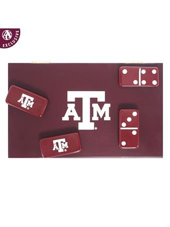 Texas A&M Exclusive Maroon Domino Set