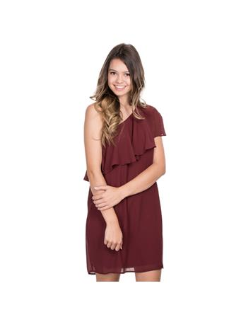 Maroon Sawyer Woven Dress