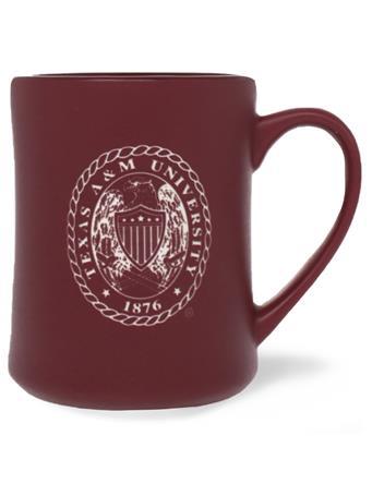 Texas A&M Ring Crest Matte Mug