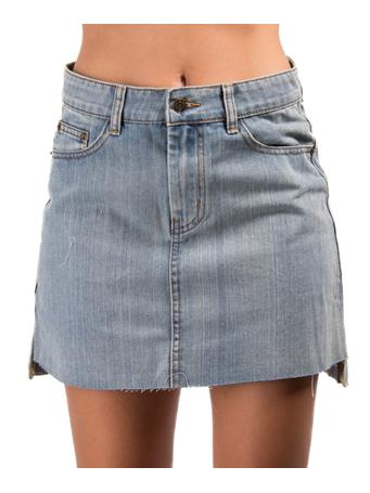 Sadie & Sage Denim Hi-Lo Mini Skirt