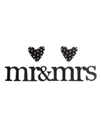 Mr & Mrs Heart Magnets