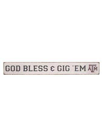 Texas A&M God Bless & Gig 'Em Barn Board