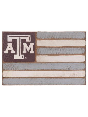 Texas A&M Aggie Small Wooden Flag