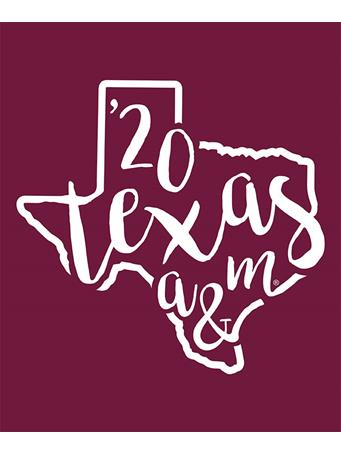 Texas A&M Aggie Curly Print '20 Decal
