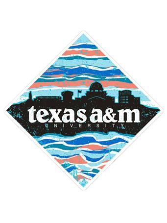Texas A&M Skyline Diamond Sticker