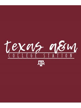 Texas A&M Aggie Script Font Decal