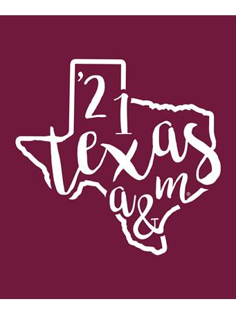 Texas A&M Class of 2021 Texas Decal