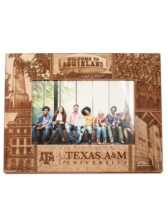 Texas A&M Collage Alderwood Frame