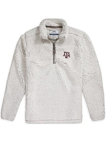 Texas A&M Quarter Zip Sherpa Pullover