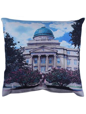 Texas A&M Academic Building Watercolor Pillow
