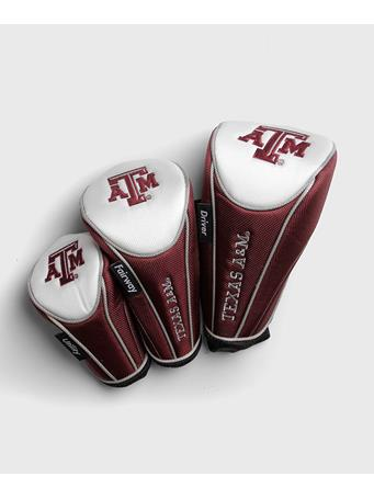 Texas A&M Aggie Golf Headcovers Set of 3