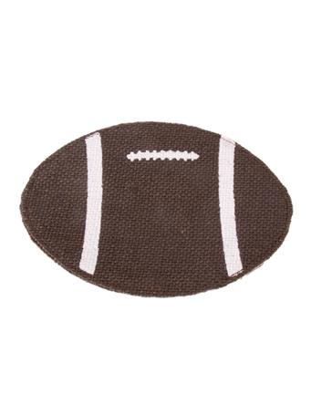 Football Jute Coaster Set of 4