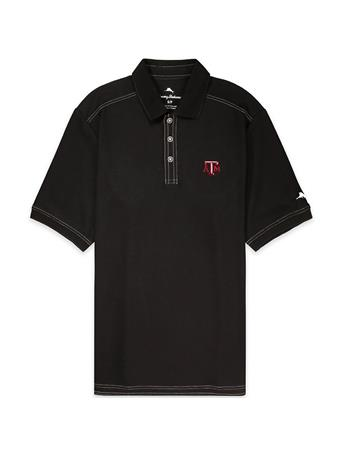 Texas A&M Tommy Bahama Emfielder Short Sleeve Polo