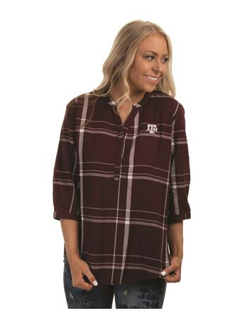 Texas A&M Plaid Tunic