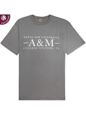 Texas A&M Aggie Basic Grey T-Shirt