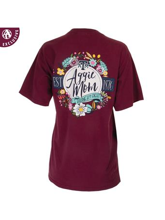 Texas A&M Aggie Mom Raisin' 'Em Right Floral T-Shirt