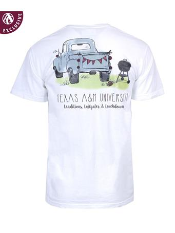 Texas A&M Aggie Tailgate Truck T-Shirt